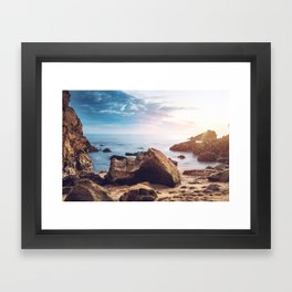Little Corona Del Mar Beach Framed Art Print
