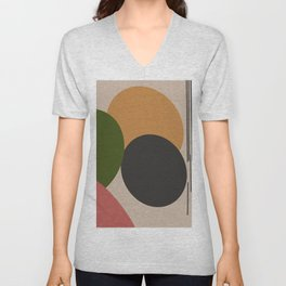 Dripped drops & circles Unisex V-Neck