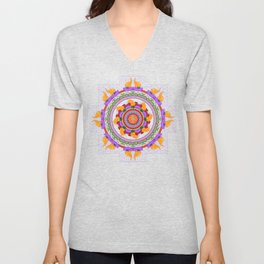 The Lu Mandala; Prosperity & Success Unisex V-Neck