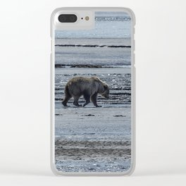 Brown Bear Looking For Clams Clear iPhone Case
