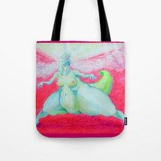 godzilla - lady dinosaur Tote Bag