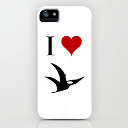 I Love Dinosaurs - Pterodactyl iPhone Case