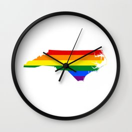 Gay Pride North Carolina (LGBT) Wall Clock