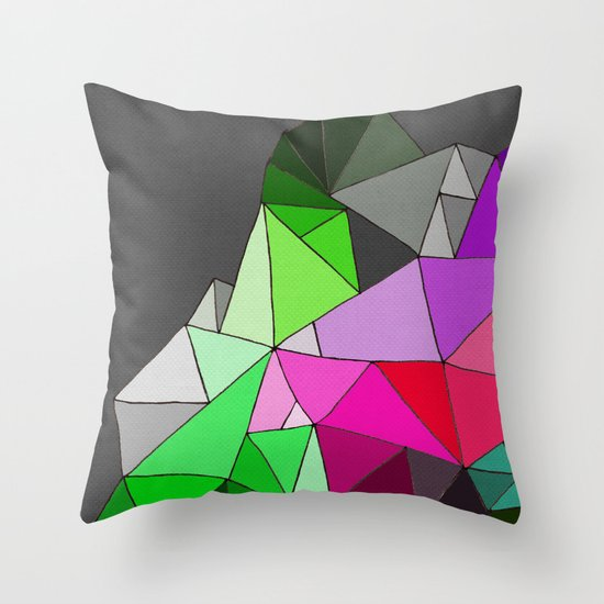 perfect colors in an imperfect configuration Throw Pillow