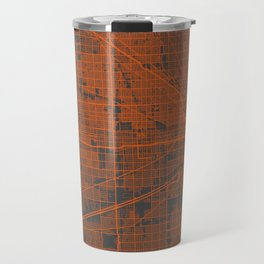Chicago map orange Travel Mug
