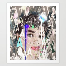 Audrey Type Abstract Art Art Print