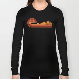 Retro Style Morgantown West Virginia Skyline Long Sleeve T-shirt