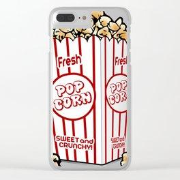 Cartoon Sweet Popcorn Clear iPhone Case
