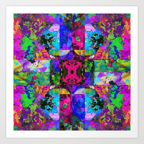 Floral Splatter Art Print