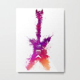 Electric guitar purple Metal Print