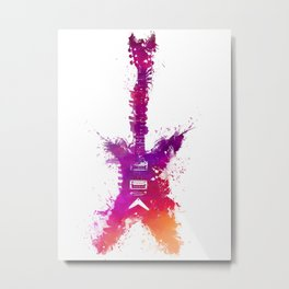 Electric guitar purple Metal Print