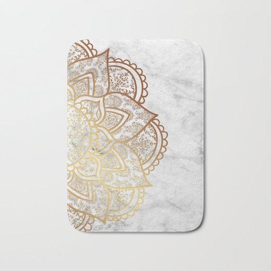 Mandala - Gold & Marble Bath Mat