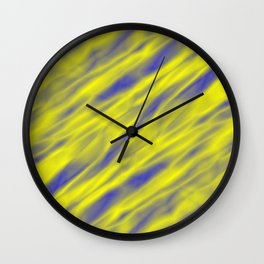 A pastel cluster of yellow bodies on a light background. Wall Clock