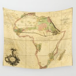 Map of Africa by Aaron Arrowsmith (1802) Wall Tapestry