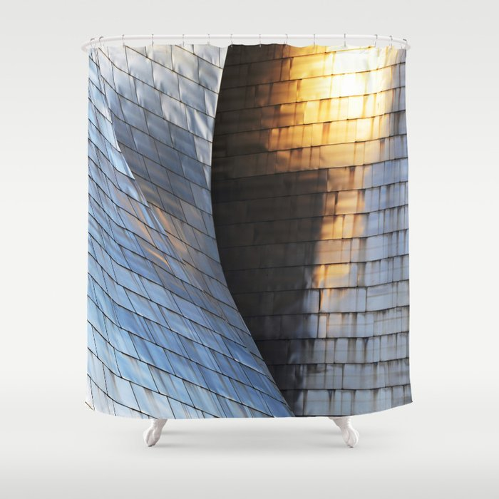 Scales of light Shower Curtain