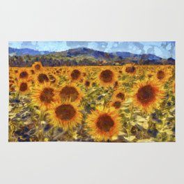 Sunflowers Vincent van Gogh Rug