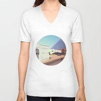 memphis V-neck T-shirts featuring Memphis by lizzy gray kitchens