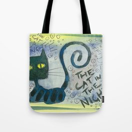 The Cat In The Night Tote Bag