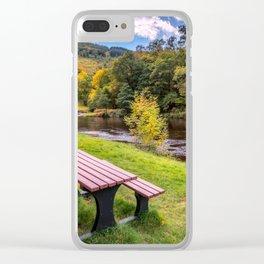 Snowdonia River Autumn Clear iPhone Case