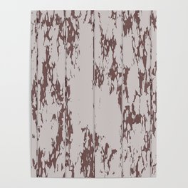 Weathered Wood Paneling 02 Poster