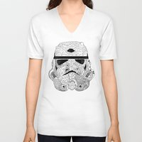 gore V-neck T-shirts featuring Gore Trooper Blk/Wht by Josh Ln