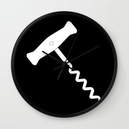 Corkscrew Over Black Wall Clock