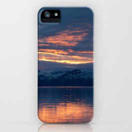lights on the fjord iPhone Case