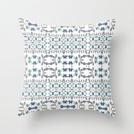 Delicate Vintage Floral Design Throw Pillow