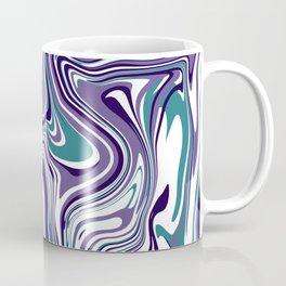 Violet Turquoise marble design Coffee Mug