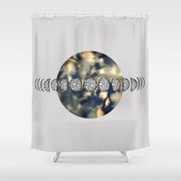 moon phases Shower Curtains featuring Moon Phases by amyrose