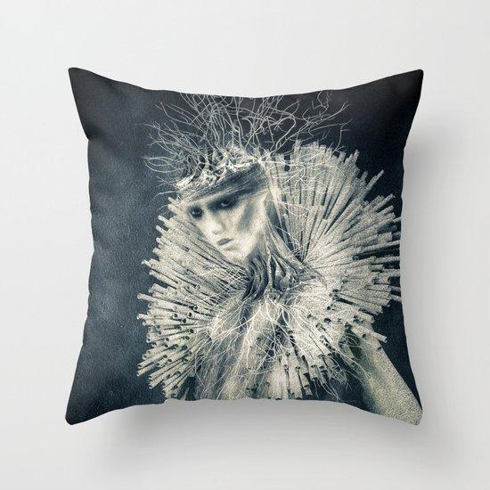 Dark Portrait III  (colour option) Throw Pillow