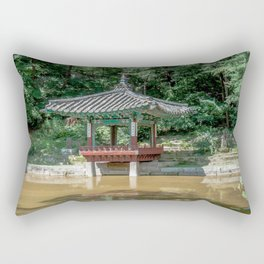 The aeryeonjeong in the Aeryeonji Pond of the secret garden_Changdeokgung Palace Rectangular Pillow