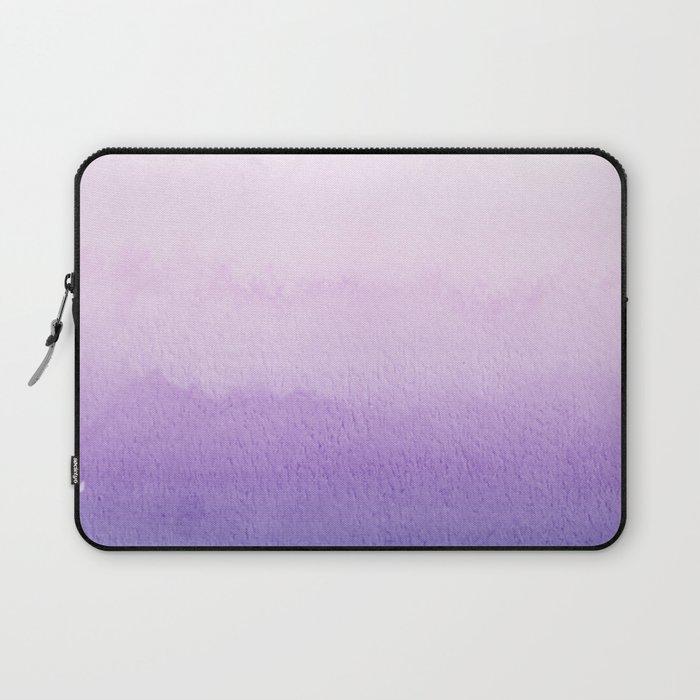 Purple Watercolor Design Laptop Sleeve
