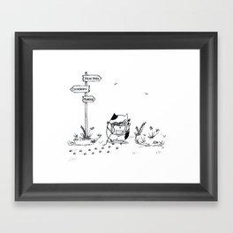 Cat Adventure Framed Art Print