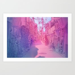 Naha Red Light Disctrict Art Print