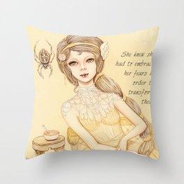 Little Miss Muffett Throw Pillow