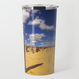 The Pinnacles Desert in Nambung National Park, Western Australia Travel Mug