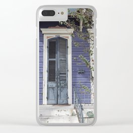 New Orleans Blue Marigny Door Clear iPhone Case