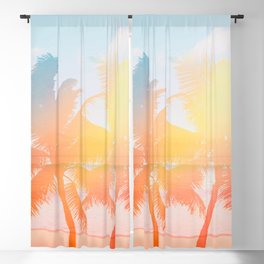 Tropicana seas - sundown Blackout Curtain