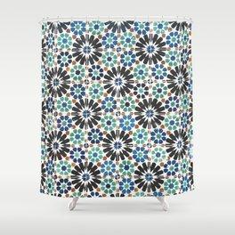 Arabic Tiles in Lisbon Portugal Shower Curtain