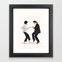 Pulp Fiction Twist Dance Framed Art Print