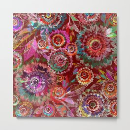 Floral abstract(54) Metal Print