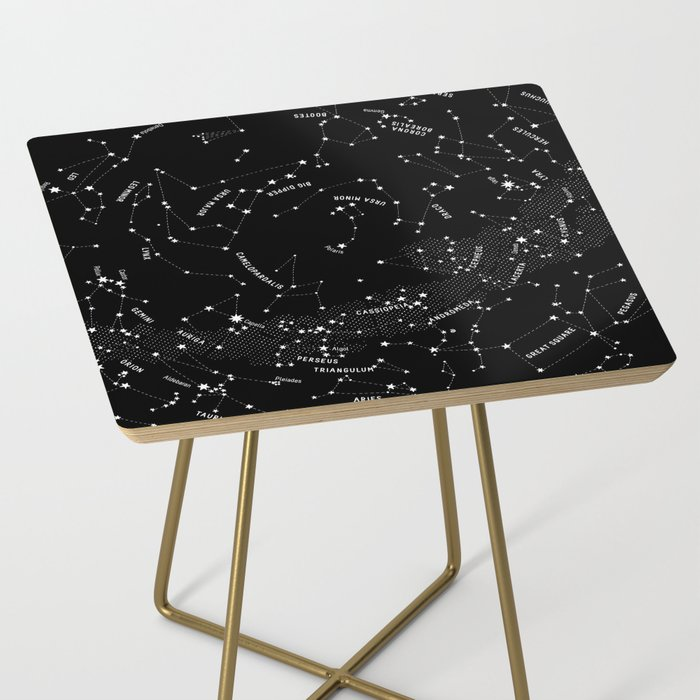 Constellation Map - Black Side Table