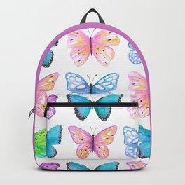 Vibrant butterflies watercolor Backpack
