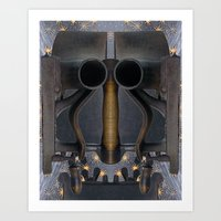 iron giant Art Prints featuring Iron Giant by Ira Carter