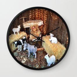 Away In The Manger Wall Clock