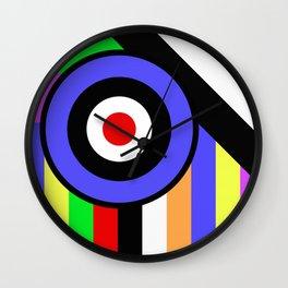Bold Geometry - Abstract, Geometric, Retro Art Wall Clock