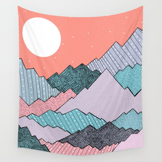 Mountain Tones Wall Tapestry