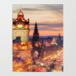 CLOCK TOWER-EDINBURGH Poster