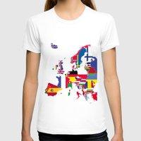 europe T-shirts featuring Europe flags by SebinLondon